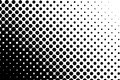 Halftone pattern. Comic background. Dotted retro backdrop with circles, dots. Black and white