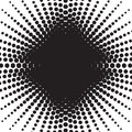 Halftone radial pattern background. Vector dots texture retro. A Royalty Free Stock Photo