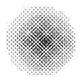 Halftone round abstract background with dots. Vector