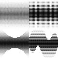 Halftone shapes set of four to use in designs Stock Photography