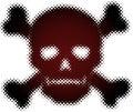 Halftone skull Royalty Free Stock Image