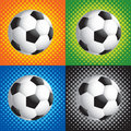 Halftone soccer balls Royalty Free Stock Photography