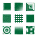 Halftone squares a set of green style Stock Photo