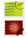 Halftone stamps Stock Photography
