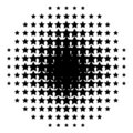 Halftone from stars Stock Images