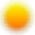 Halftone sun. Royalty Free Stock Photo