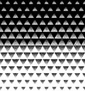 Halftone Triangular Pattern Vector. Black and White Triangle Halftone Grid Gradient Pattern Geometric Abstract Background. Editabl