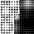 Halftone Vector Seamless Patterns, Set of Royalty Free Stock Photo