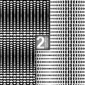 Halftone Vector Seamless Patterns, Set of 2 Royalty Free Stock Photo