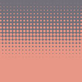 Halftone vintage vector background with worn, grunge edges. Orange and purple color combination. Royalty Free Stock Photo