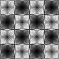 Halftone white and black inverse patterns composed as chessboard, seamless vector background Royalty Free Stock Photo