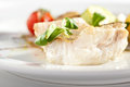 Halibut Steak and Vegetables Royalty Free Stock Photo