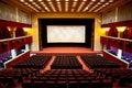 Hall of a cinema Royalty Free Stock Photo