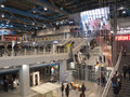 Hall of the george pompidou center december in paris france Royalty Free Stock Photography