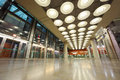 Hall in Madrid Barajas Airport Royalty Free Stock Photo