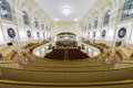 Hall of the moscow tchaikovsky conservatory oct top view on october in russia Royalty Free Stock Photo