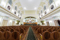Hall of the moscow tchaikovsky conservatory oct view from center on october in russia Stock Photography