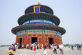 The hall of prayer for good harvests in temple heaven temple heaven was built in it remain intact through ming Royalty Free Stock Photography
