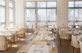 Picture : Hall of the restaurant prepared steak