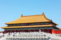 Hall supreme harmony forbidden city morning beijing Stock Photography