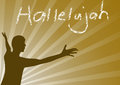 Hallelujah jesus man praising the lord vector illustration Royalty Free Stock Photos