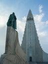 Hallgrimskirkja church reykjavik iceland s largest a landmark in Royalty Free Stock Photos