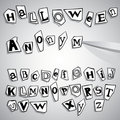 Halloween anonymous alphabet Stock Images