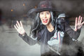 Halloween! Asian witch came to skate