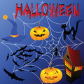 Halloween attributes set Royalty Free Stock Images
