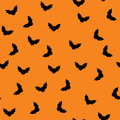Halloween background with bats seamless orange Stock Photo