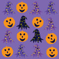 Halloween background cute vector illustration Royalty Free Stock Photography