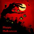 Halloween background easy to edit vector illustration of Royalty Free Stock Image