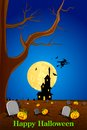 Halloween background easy to edit vector illustration of haunted house in Stock Photos