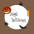 Halloween background element for design illustration on light brown Stock Image