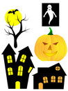Halloween Background elements Stock Images