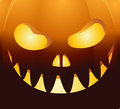 Halloween background with face pumpkin Royalty Free Stock Photo