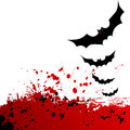 Halloween background flying bats d vector Stock Image