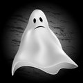 Halloween background ghost on a dark Stock Photography