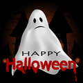 Halloween background ghost on a dark Royalty Free Stock Photo
