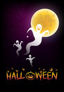 Halloween background with the moonlight illustration of Stock Photos