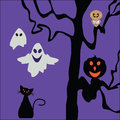 Halloween background pretty interesting illustration Stock Image