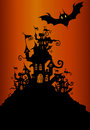 Halloween background related illustration Stock Photography