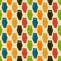 Halloween background. Retro pattern with owls. Stock Images