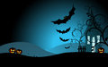 Halloween background with the scary house d vector Stock Images