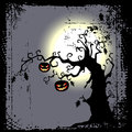 Halloween background - scary tree Royalty Free Stock Image