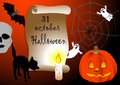 Halloween background scroll. vector 10eps. Royalty Free Stock Photography