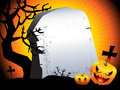 Halloween background sinister pumpkins with space for text Stock Photos