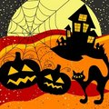Halloween background, vector Royalty Free Stock Image