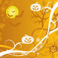 Halloween background, vector Stock Image