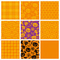 Halloween backgrounds set of party patterns Stock Images